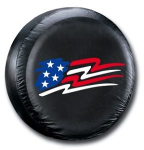 American Flag Spare Tire Cover