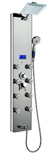 Blue Ocean 52 Aluminum SPA392M Shower Panel Tower with Rainfall Shower Head