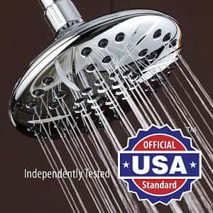 Large 6-inch Rainfall Shower Head by Aqua Dance-min