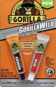 Gorilla Heavy Duty GorillaWeld Steel Bond 2-Part Epoxy-min