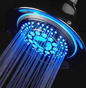 DreamSpa All Chrome Water Temperature Controlled Color Changing 5-Setting LED Shower-Head
