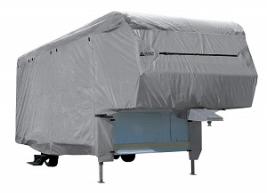 Easy Setup 5th Wheel RV Trailer Cover with Assist Steel Pole