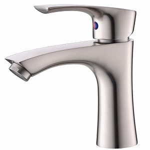 KINGO HOME Contemporary Stainless Steel Single Hole Lavatory Single Handle Brushed Nickel Bathroom Faucet