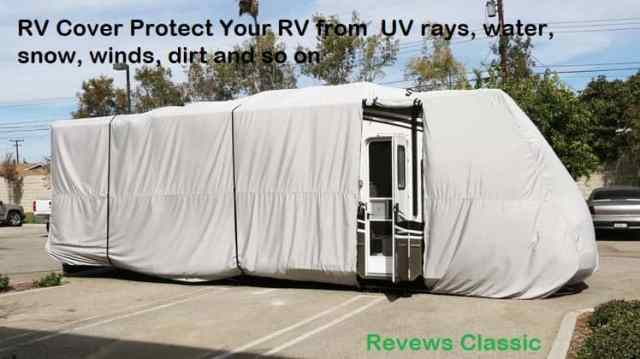 RV Cover Protect Your RV from UV rays, water, snow, winds, dirt and so on-min