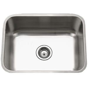 Houzer STS-1300-1 Eston Series Undermount Stainless Steel Single Bowl Kitchen Sink