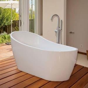 WoodBridge 67 Modern Freestanding Bathtub