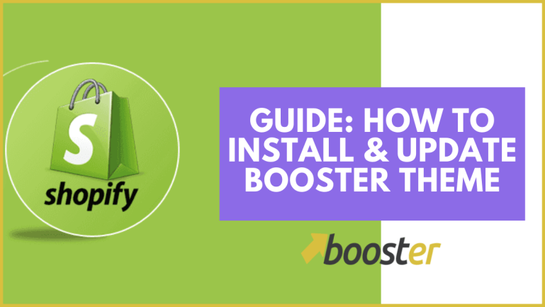how to install and update booster theme