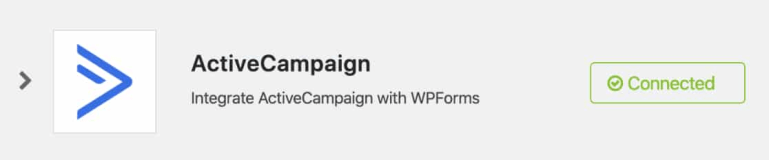 active campaign successful login in wpforms