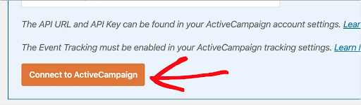 connect to active campaigns in WPforms