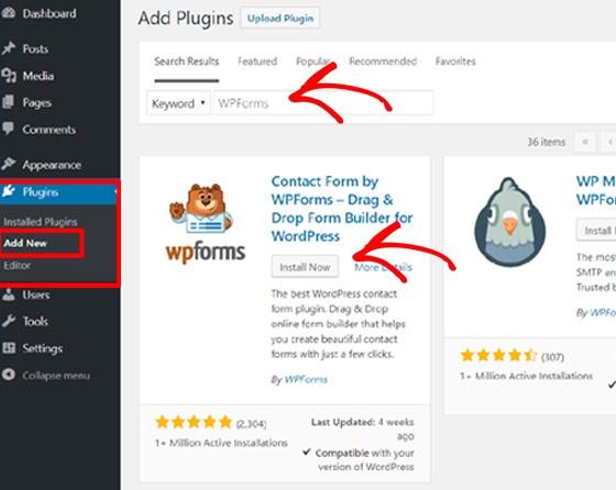 install wpforms | wordpress plugin