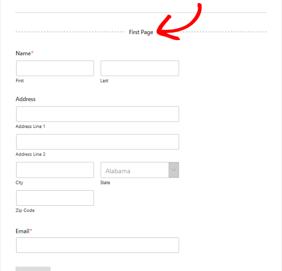 multipart form in wordpress by wpforms