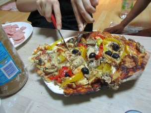Paul's pizza party.