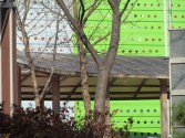perforated green wall
