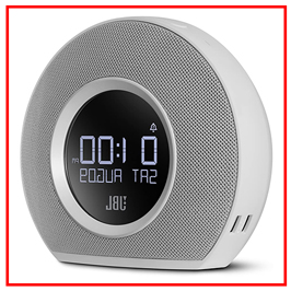 JBL HORIZON BLUETOOTH CLOCK RADIO WITH USB CHARGING AND AMBIENT LIGHT WHITE