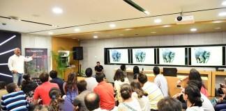 Rohit Varma, Wildlife photographer, addressing the gathering at TEDxBangaloreSalon 2017