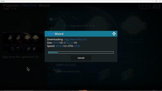 Step 36 Installing Diggz Xenon addon on Kodi
