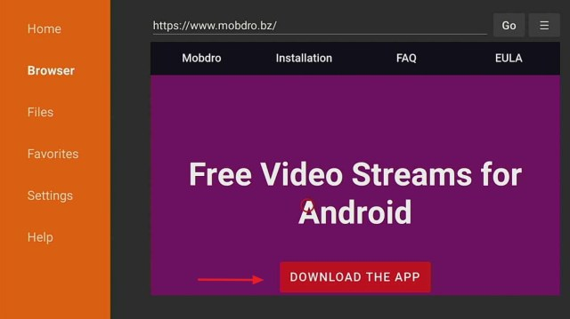 step 13 to install mobdro on a firestick