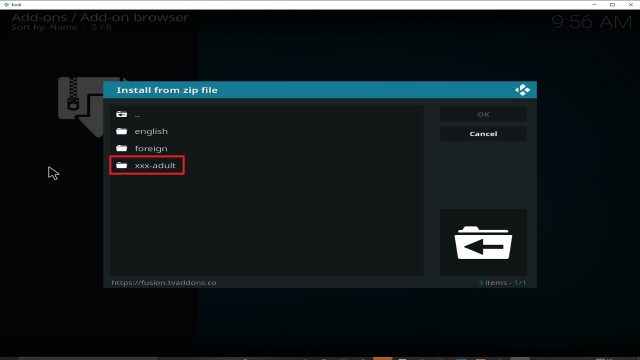 Step 19 Installing fusion addon on Kodi