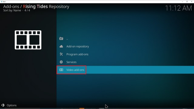 Step 21 Installing Rising Tides addon on Kodi