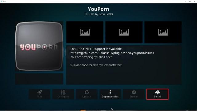 Step 23 Installing YouPorn addon on Kodi