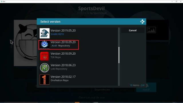 Step 24 Installing Sport's Devil Kodi addon on Kodi