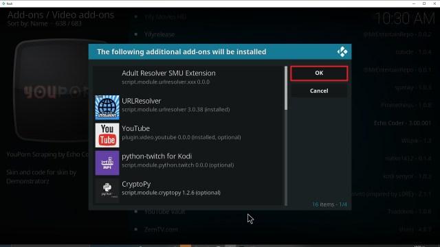Step 24 Installing YouPorn addon on Kodi