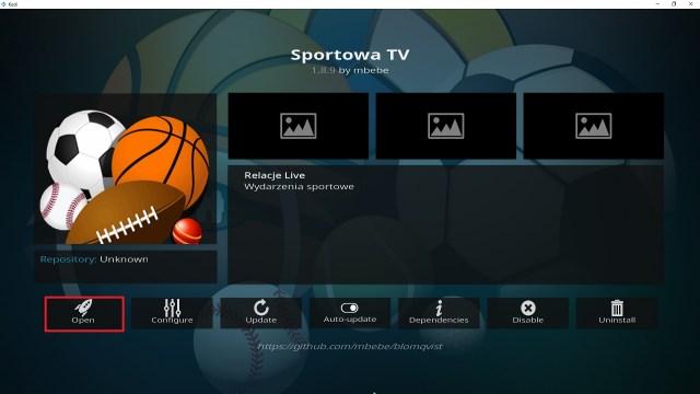 Step 26 Installing Sportowa TV addon on Kodi