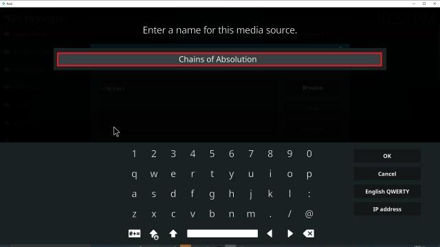 Step 12 Installing Chains of Absolution Kodi addon on Kodi