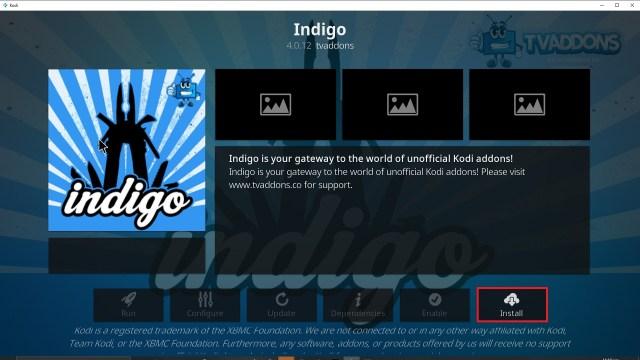 Step 23 Installing Indigo addon on Kodi