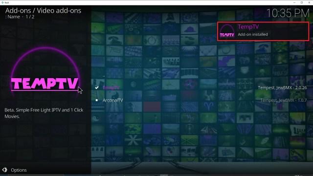 Step 25 Installing TempTV Kodi addon on Kodi