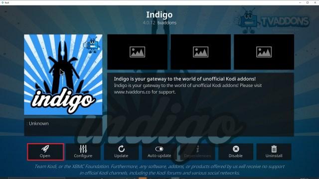 Step 26 Installing Indigo addon on Kodi