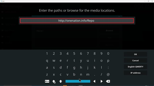 Step 9 Installing Enigma Kodi addon on Kodi