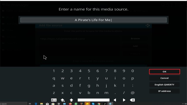 Step 13 Installing A Pirate's Life For Me addon on Kodi