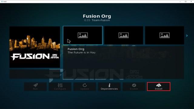 Step 23 Installing Fusion Org addon on Kodi