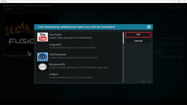 Step 24 Installing Fusion Org addon on Kodi