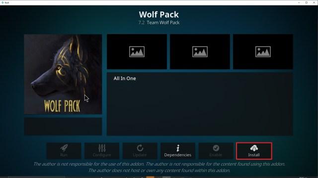 Step 23 Installing Wolf Pack addon on Kodi