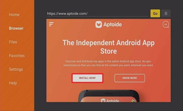 Step 13 Install Aptoide on Firestick