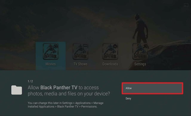 Step 15 Install Black Panther APK on Firestick