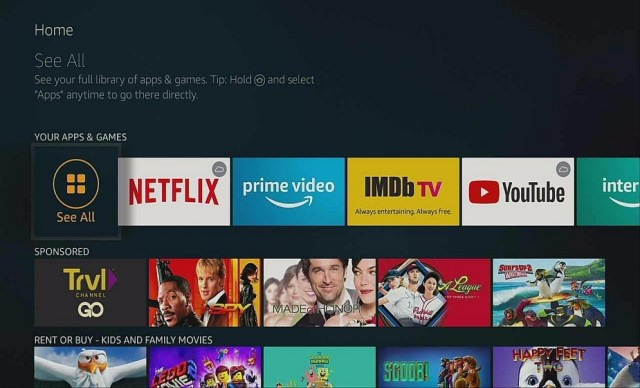 Step 1 Manual update of apps on firestick