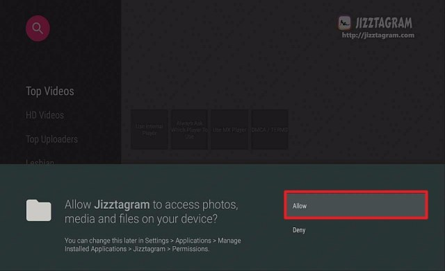 Step 16 install jizztagram on firestock