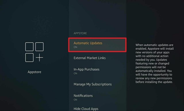 Step 4 Auto update apps on firestick