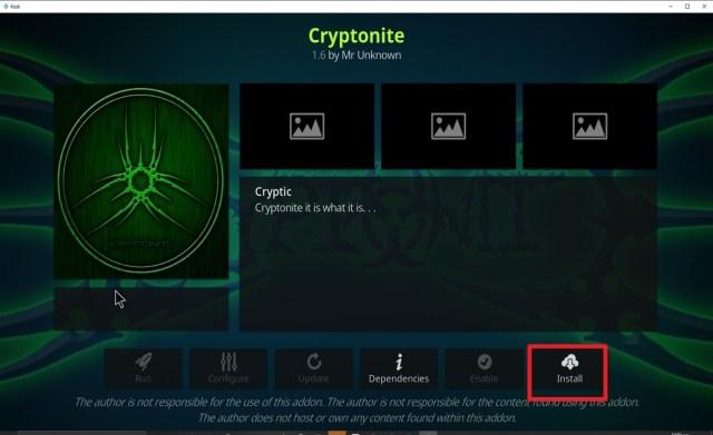 Step 23 Install Cryptonite on kodi