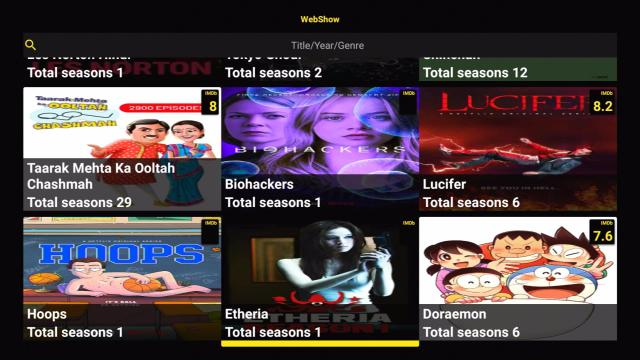 Install PikaShow On Firestick TV Shows Section