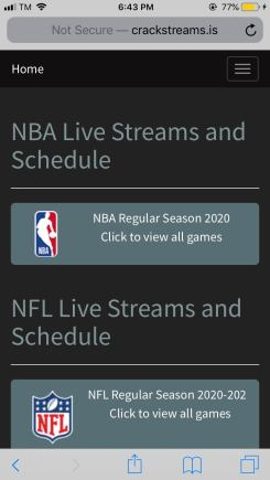 Crackstreams: Stream Sports on Firestick, Android, Windows and iOS
