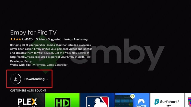 Install Emby Directly on Firestick Step 7