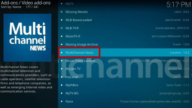 Install MultiChannel News on Kodi Step 5