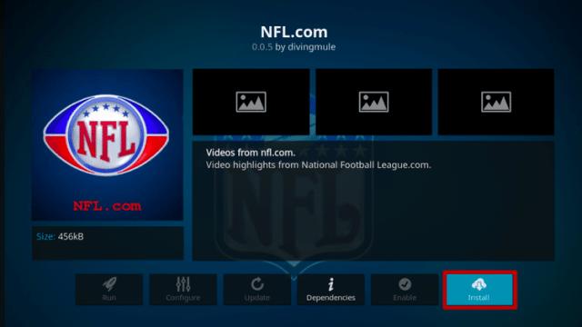 Install NFL.com Kodi Addon Step 6