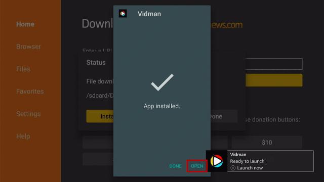 Install Vidman TV App on Firestick Step 18