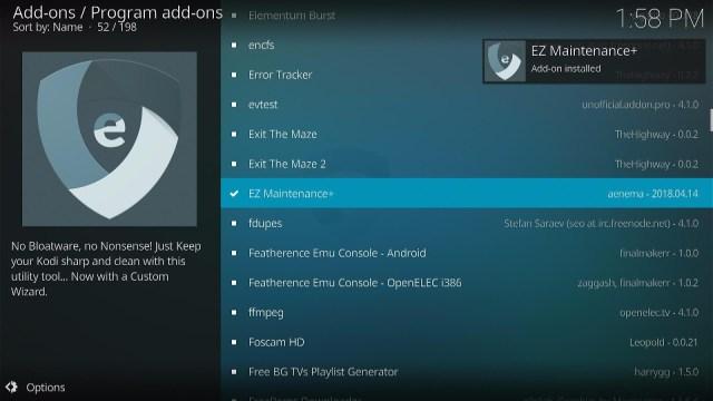 Install the EZ Maintenance+ Kodi Addon Step 4