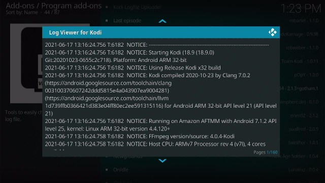 Install the Log Viewer for Kodi Step 11